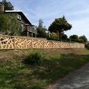 barrière en bois jardin