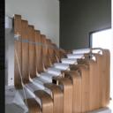 Escalier intéressant en lamellé cintré