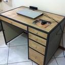 bureau bois métal