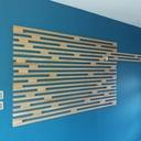 Habillage d'un mur d'entrée