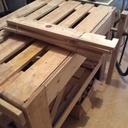 Des treteaux en bois de palette