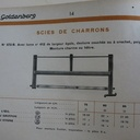 Catalogue Goldeberg 1934. Scies de Charrons