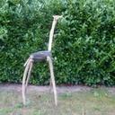 Girafe bois flotté