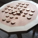 Table d'appoint de jardin / jeu de solitaire