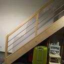 Escalier droit avec contremarche