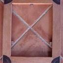 Cadre cèdre rouge et 4  1/4 en insert de bois de violette en bout