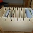 tiroir avec intercalaires pour le classement des livres et cahier par matières