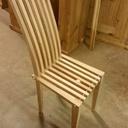 Chaise en frêne et sapin