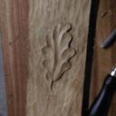Une petite feuille de chêne en chêne .