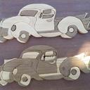 Série de vieilles voitures