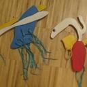 Jouets dessinés par mes garcons de 3 ans, réalisés avec papa