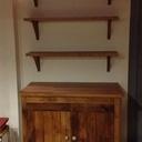 Petit meuble pour cuisine en chêne de récup'