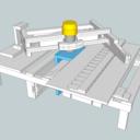 Table pour pantographe de défonceuse