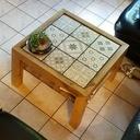 Table basse et carreaux de ciments assemblage japonais KANE TSUGI