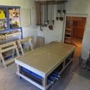 Mon atelier dans une cave voutée