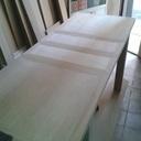 Fabrication d'un salon complet en chêne massif vernis