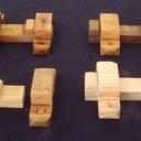 Verrou targette en bois de récup