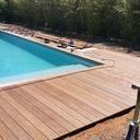 Aménagement extérieur contour de piscine en ipé