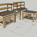 Miter Saw Station with Rolling Workbenches - Banc de scie a onglet radiale avec établi roulant