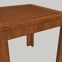 Table basse en chêne lamellé colé huilé