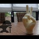 Apprendre la sculpture du bois dans du panneau d'isolation: Sculpture d'une main