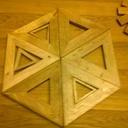 dessous de plat triangle a l'infini