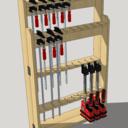 Rack a serre en bois de palette