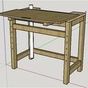 Table pour scie à onglet