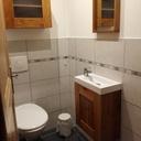 Duo de petits meubles en chêne, lave-mains et miroir
