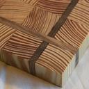 Plateau à fromage en bois de bout, 3 essences