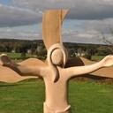Christ en bois réalisé pour l'église de Wéris