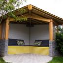 Kiosque en bois d'angle