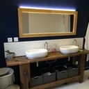 Miroir de sdb avec éclairage intégré
