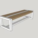 Table de salle à manger, pieds en tube rectangle