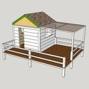 Plans Sketchup cabane
