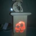 Lampe à façade intercheangeable
