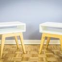 Table de chevet au style scandinave