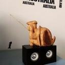Tortue qui pêche sculpter