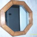 miroir octogonal chene massif
