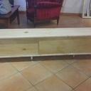 Le meuble assemblé avant ponçage et peinture