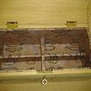 Boîte a bijoux , en chêne massif brut de sciage a l'extérieur  et vernis