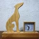 Horloge décorative silhouette Greyhound