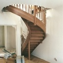 Escalier lamellé colle