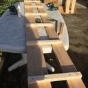 Dressing façon étagère en bois de palettes