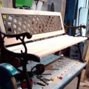 Banc en bois et fonte