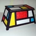 Coffre à jouet Mondrian en aretier