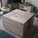 Table basse en pin
