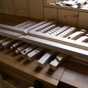 Ensemble des pièces de bois