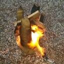 Tabouret hêtre brulé