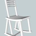 Chaise à bascule réversible